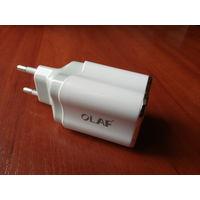 Зарядное устройство для телефонов,  смарт-часов и т.д. 2 USB выхода.