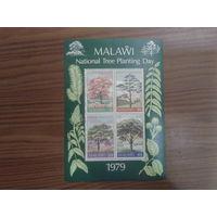 Малави 1979 Деревья блок Mi-5,0 евро