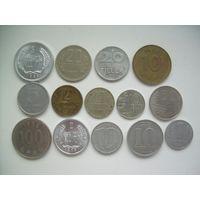 КИТАЙ, КОРЕЯ, БОЛГАРИЯ, ГДР, ВЕНГРИЯ, ЧЕХИЯ, ФИНЛЯНДИЯ 14 монет.