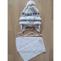 Комплект зимний шапка и шарф для мальчика 4-6лет
