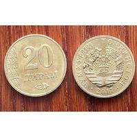 Таджикистан 20 дирамов 2017