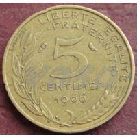 4305:  5 сантимов 1966 Франция KM# 933 алюминиевая бронза