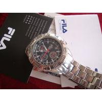 Часы Fila!,WR50m,кварцевый хронограф,документы!