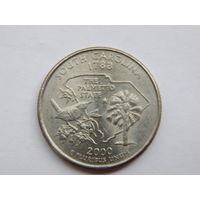 25 центов(квотер) США 2000 P South Carolina