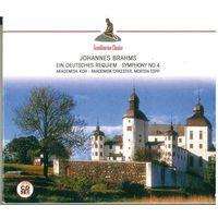 2CD-set Johannes Brahms / Akademisk Orchester & Chor / Morten Topp - Ein Deutsches Requiem - Symphony NO 4 (2002)