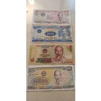 4 купюры , Вьетнам