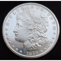 Доллар Моргана 1879 года UNC с 1 рубля!!!
