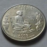 25 центов, квотер США, штат Алабама, Р