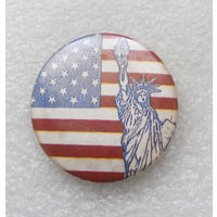 Американский флаг. США. Статуя Свободы #1343-CP22