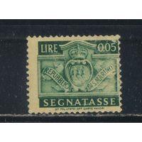 Сан-Марино Респ Доплатная 1945 Герб #65*