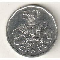 Эсватини (Свазиленд) 50 цент 2011