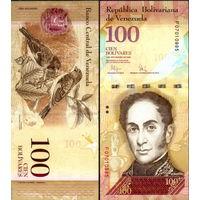 Венесуэла  100  боливаров  образца 2007 года  UNC