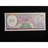 Суринам 100 гульденов 1985г UNC