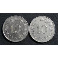 Мальта 10 центов, 1972г. KM#11 - 2шт