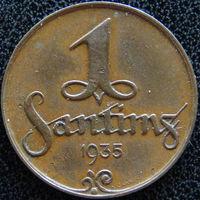 YS: Латвия, 1 сантим 1935, KM# 1