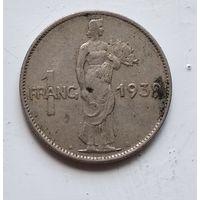 Люксембург 1 франк, 1939 3-10-29