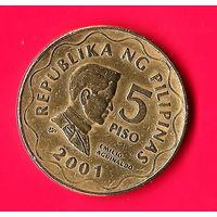 12-24 Филиппины, 5 песо 2001 г.