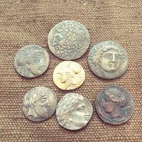 Семь монет одним лотом. Антика. Торг!