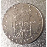 Швеция, 1 крона, 1973 год, медь-никель