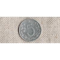 Чехословакия/Чехия 5 геллеров 1953(Zo)