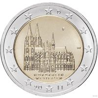 2 евро 2011 Германия F Северный Рейн - Вестфалия Кёльнский собор UNC из ролла
