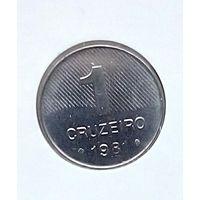 Бразилия 1 крузейро 1981