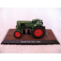 Масштабная 1:32 модель трактора Deutz F3L - 1958