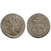 Полугрош 1563, Жигимонт Август, Вильно. Ав - 'D G' в легенде, окончание легенд - L, Рв - LITV. Более редкая разновидность, RR!