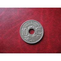 10 сантимов 1921 год Франция