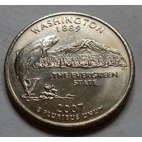 25 центов, квотер США, штат Вашингтон, P D