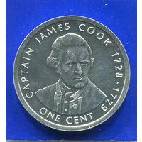 Острова Кука 1 цент 2003 , Капитан Джэймс Кук , UNC