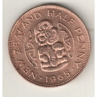 Новая Зеландия 1/2 пенни 1965