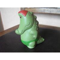 Советская резиновая игрушка Крокодил.12 см.