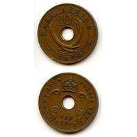 Британская Восточная Африка 10 центов 1950 г. KM#34 (Георг VI)