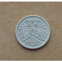 Австро-Венгрия, 10 геллеров 1915 г., медно-никель