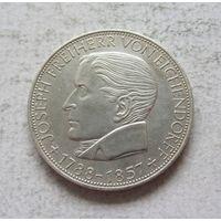 Германия 5 марок 1957 100 лет со дня смерти Йозефа фон Эйхендорфа - редкая!