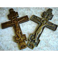 """Крест """"Распятие Христово"""". Киотный. 2 шт. 19 век."""