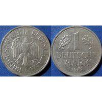 ФРГ, 1 марка 1982 J, монетный двор Гамбург