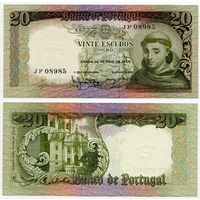 Португалия. 20 эскудо (образца 1964 года, P167a, aUNC)
