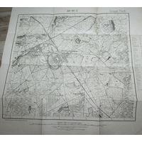 Оригинальная 250м немецкая карта по ПМВ Барановичи 1915г