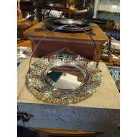 Лот с рубля - 176 Ваза Фруктовница Серебрение Клейма Без минимальной цены Большой Аукцион!