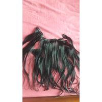 Натуральные волосы на прищепках