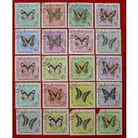 Гвинея. Бабочки. ( 20 марок ) 1963 года.