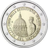 2 Евро Ватикан 2016 Жандармерия Ватикана UNC в буклете