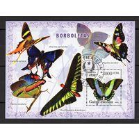 B30 - 1 шт. - Гвинея-Бисау - CTO - Бабочки - Насекомые - Фауна - зубчатый - 2006