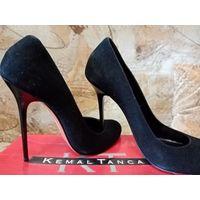 Туфли модельные, замшевые (Турция).