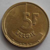 Бельгия, 5 франков 1987 г. 'BELGIE'