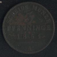 Германия Пруссия 3 пфеннига 1851 г. (*). Состояние на фото!!!