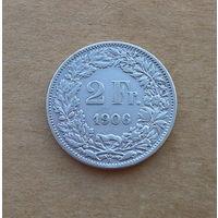 Швейцария, 2 франка 1906 г., серебро
