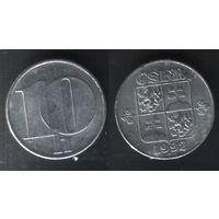 Чехословакия km146 10 геллер 1992 год (f50)(ks00)